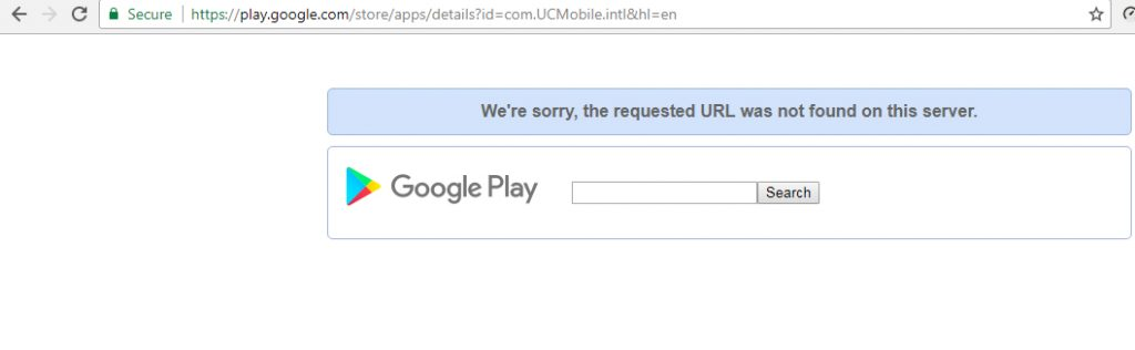UC Browser Removed