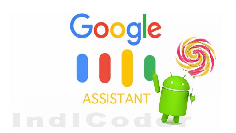 google assistant android lollipop