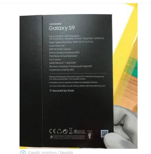 galaxy s9 retailer box