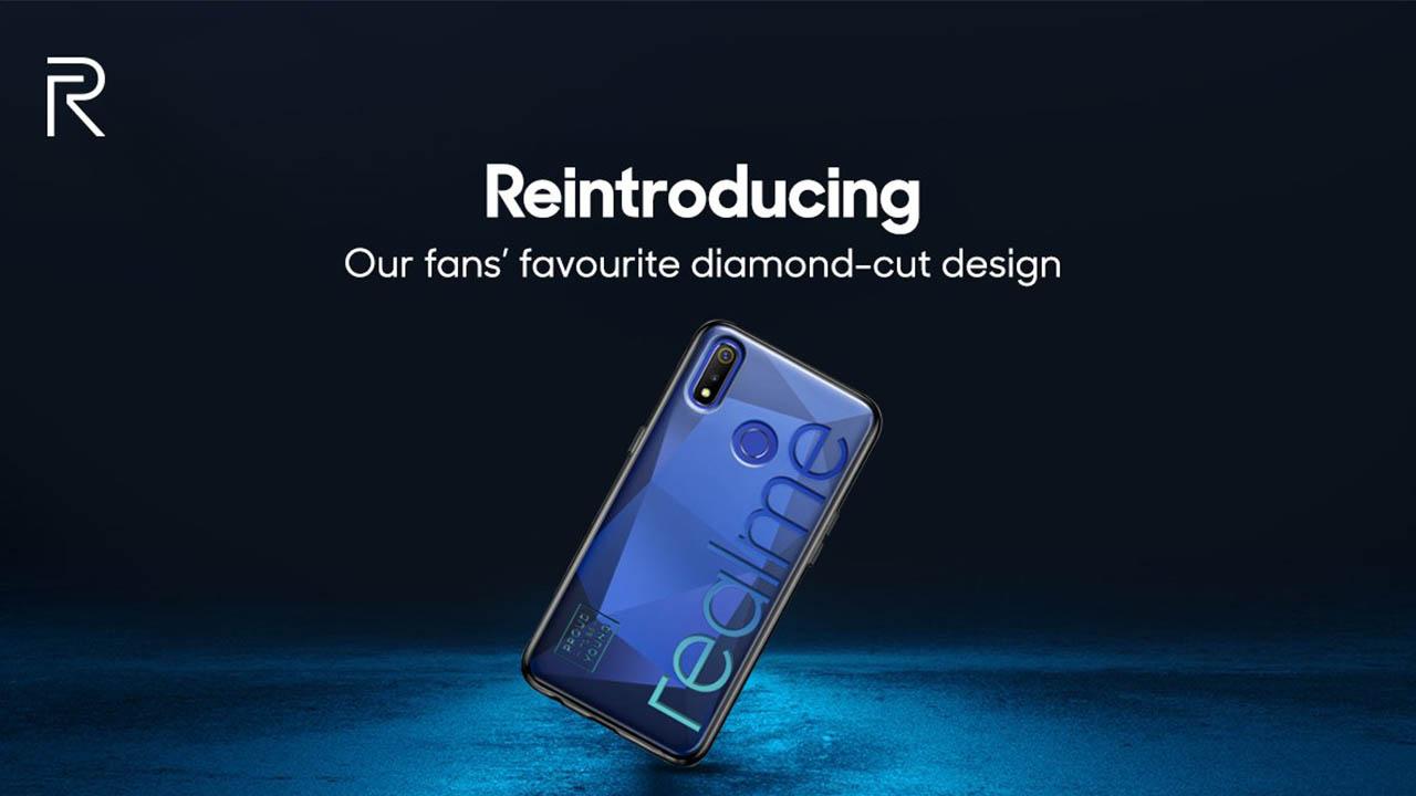 realme 3 price in india camera back diamond cut design launch date