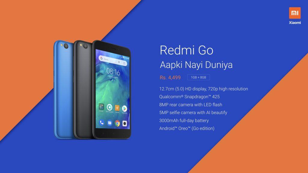 redmi go specifications price in india