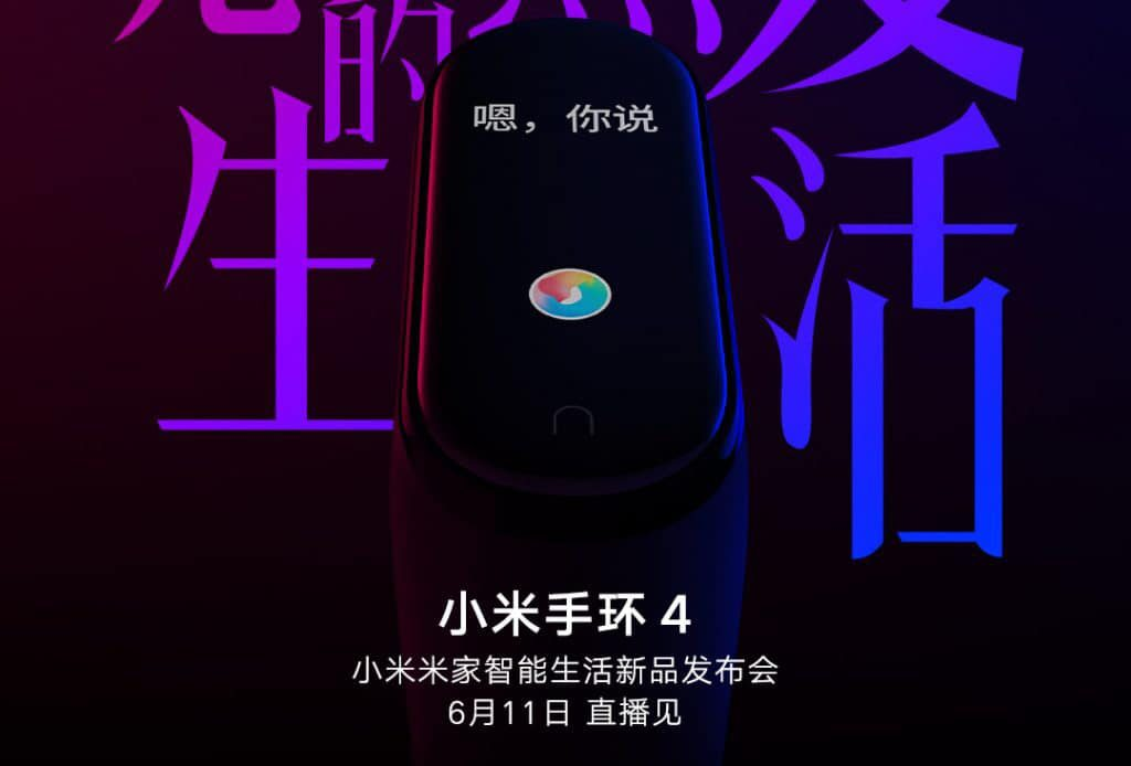 mi band 4 teaser weibo specifications